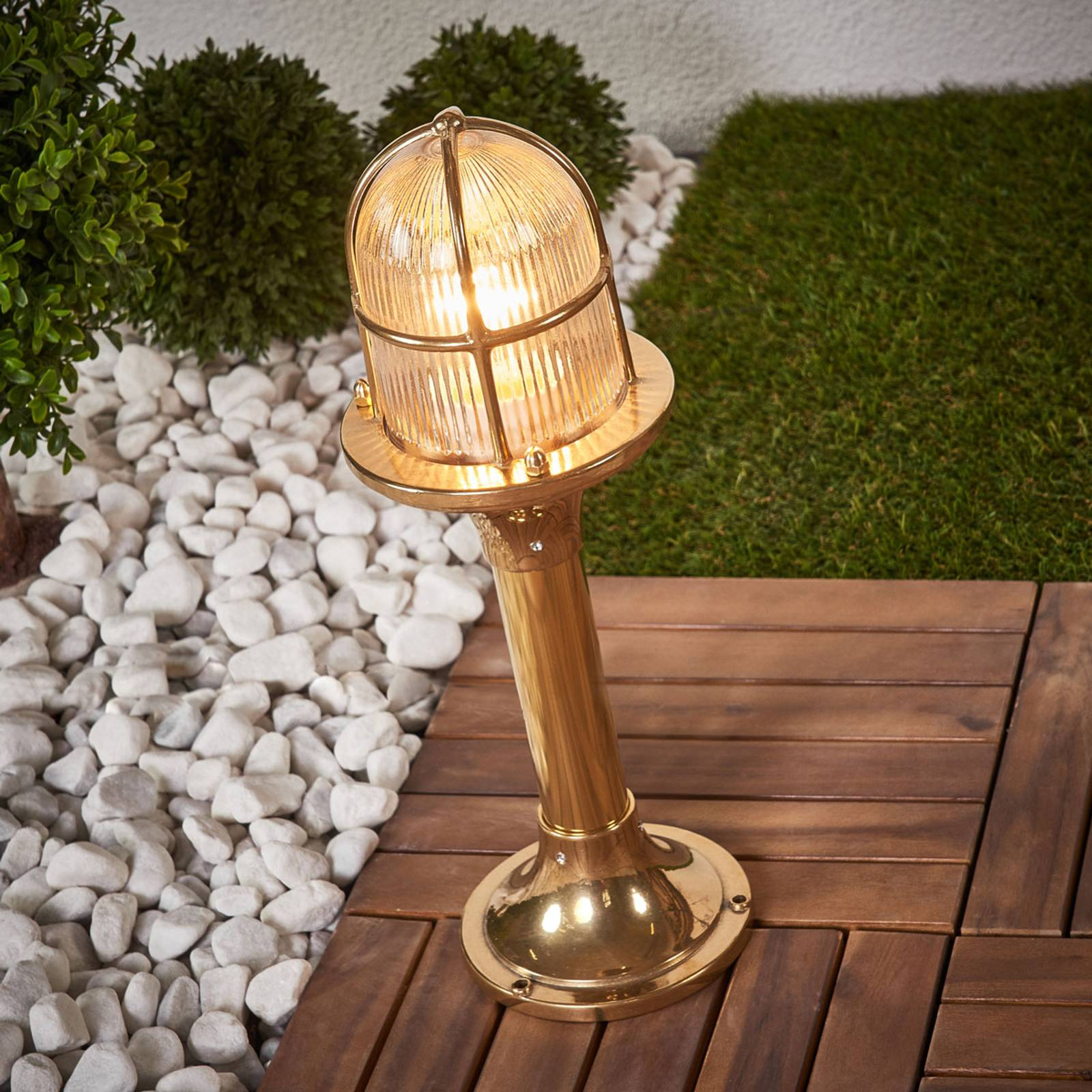 Brass pillar light Ocean from Moretti