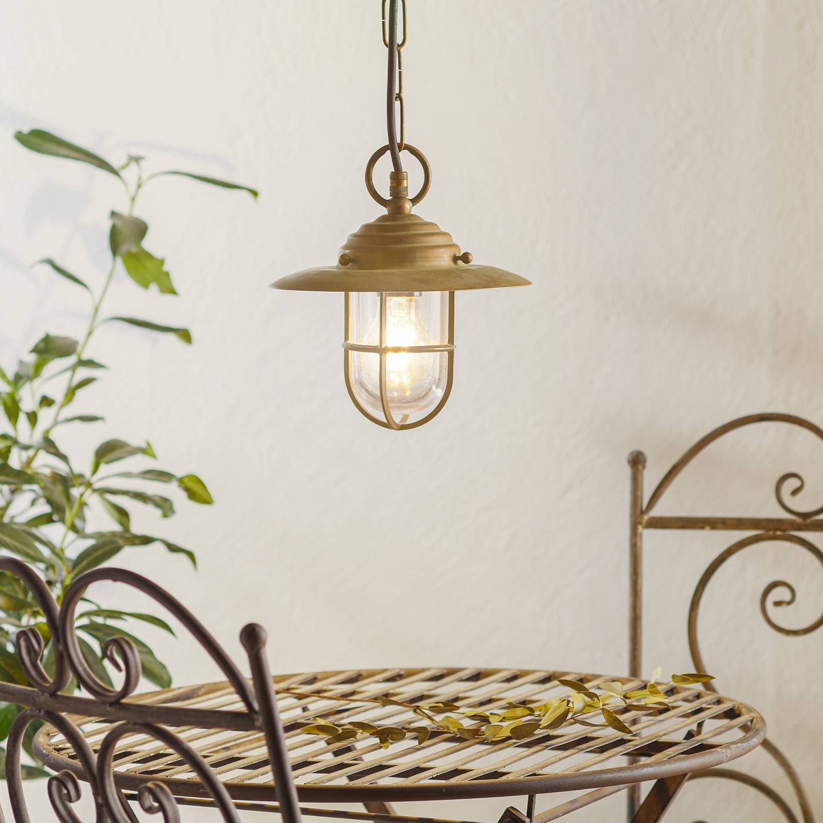 Bruno stylish hanging light for outdoors from Moretti