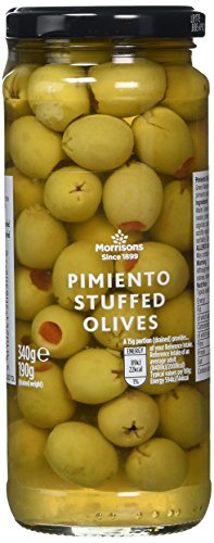 Morrisons Pimiento-Stuffed Olives, 340 g, Pack of 8 from Morrisons