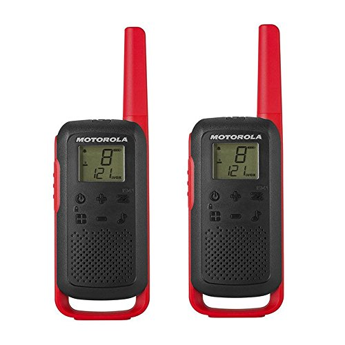 Motorola TALKABOUT T62 RED PMR446 PMR 16 Channels 121 Codes Range 8 km from Motorola