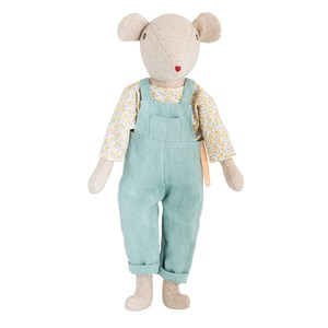 Moulin Roty Moulin Roty Daddy Mouse Soft Toy 0 - 10 years from Moulin Roty