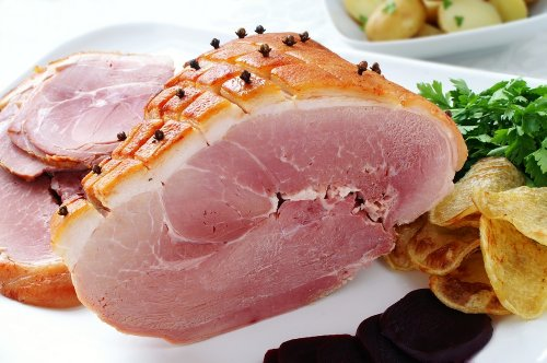 Half a Boneless Honey Roast Ham - Cooked Ham (approx 1.5kg) - Ideal For Parties, Events & Christmas from Mountain's Boston Sausage
