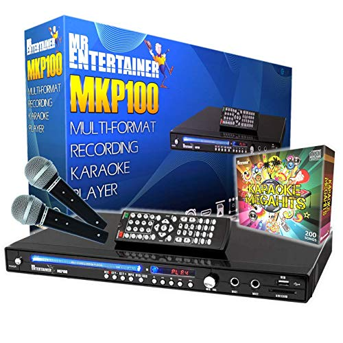 Mr Entertainer MKP100 CDG DVD MP3G Karaoke Machine Player. HDMI/Record/Rip/USB. 200 Songs from Mr Entertainer's Karaoke Collection
