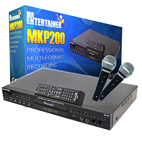 Mr Entertainer MKP200 CDG DVD MP3G Professional Karaoke Machine Player. HDMI/Record/Rip/USB/Scoring/Jukebox from Mr Entertainer's Karaoke Collection