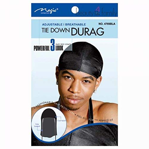 Breathable Durag for Men One size fits All Black from Mr.Durag