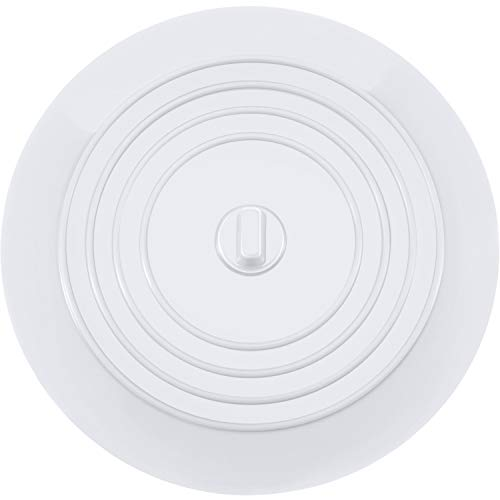 Mudder 6 Inches Silicone Tub Stopper Drain Plug for Kitchens, Bathrooms and Laundries (White) from Mudder