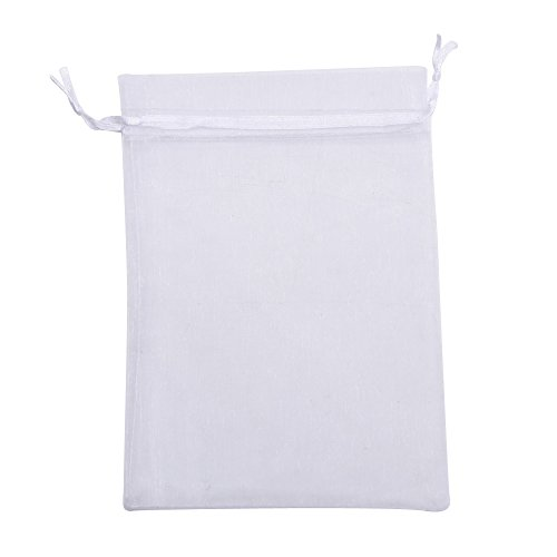 Organza Gift Bags Wedding Favor Bags Jewelry Pouches, Set of 50, White from Mudder