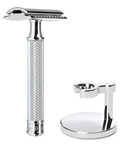 Muhle R89 Closed Comb Safety Razor and Muhle Razor Stand - No Blades Included from Muhle