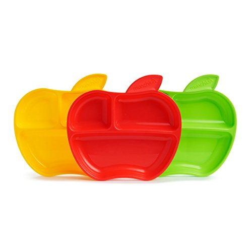 Munchkin Apple Shaped Toddler Plates, Pack of 3 from Munchkin
