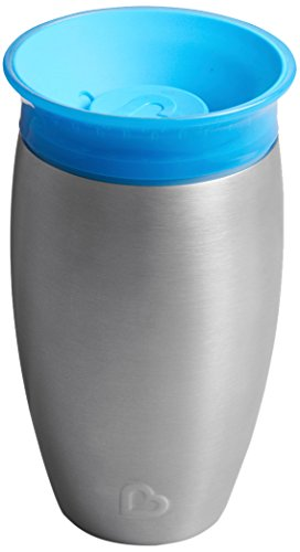 Munchkin Miracle 360 Degree Stainless Steel Sippy Cup, 10 oz/296 ml, Blue from Munchkin