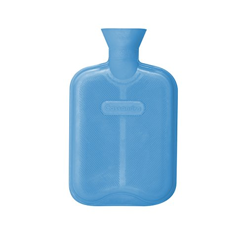 Cassandra Hot Water Bottle, Ribbed Surface Both Sides, 1.8 Litre, 5 Year Cassandra Guarantee, Colour Received Varies from Cassandra