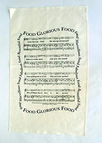 Food Glorious Food Oliver 100% Cotton Tea Towel from Music Gifts