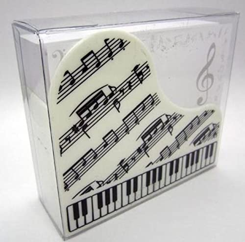 White Keyboard Design Memo Note Set from Music Sales