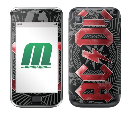 MusicSkins AC/DC Black Ice Skin for Samsung Galaxy S Plus from MusicSkins