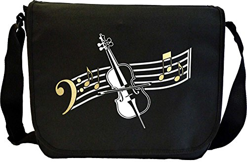 Cello Curved Stave - Sheet Music & Accessory Bag MusicaliTee from MusicaliTee