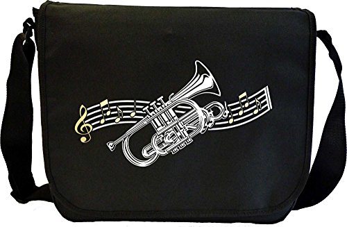 Cornet Curved Stave - Sheet Music & Accessory Bag MusicaliTee from MusicaliTee