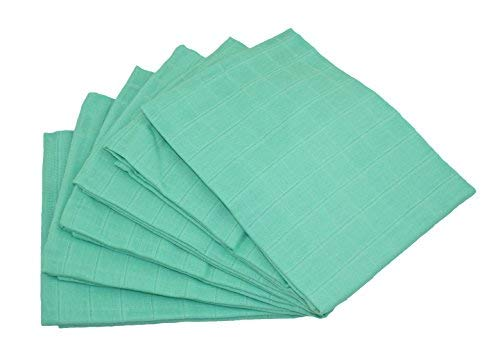 MuslinZ Premium High Quality Muslin Squares (Mint, Pack of 6) from Muslinz