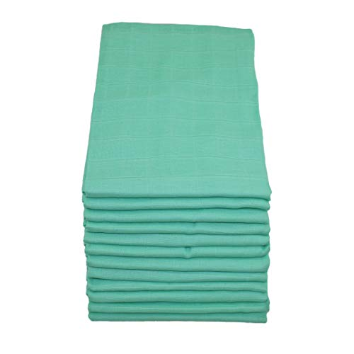 Muslinz Premium High Quality Baby Muslin Squares Mint Star Combo Pack of 12