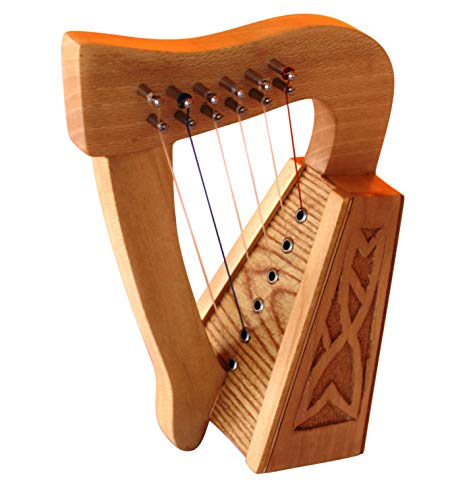 6 String Muzikkon Harps with strings and tuning key - Musical Instrument Strings Harps from Muzikkon