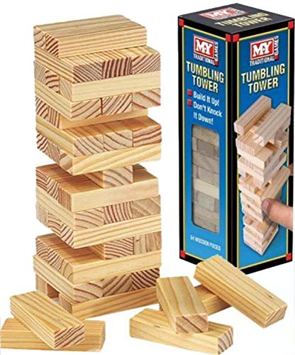 My Traditional Games Tumbling Tower 48 Wooden Pieces from My Little Pon