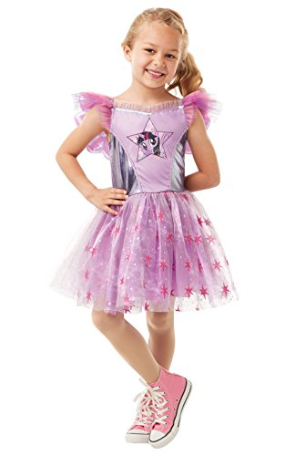 Rubie's Official Twilight Sparkle My Little Pony Fancy Dress, Girls Deluxe Cartoon Costume, Size Small Age 3-4 from Rubie's