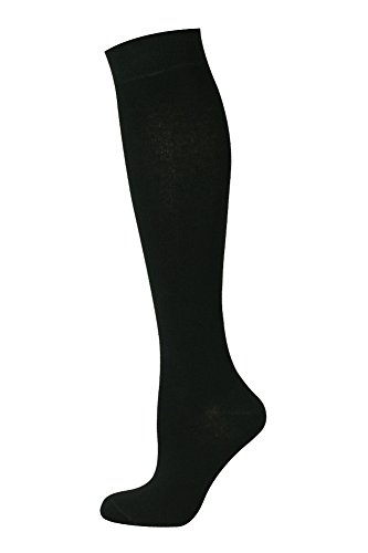 Mysocks® Unisex Knee High Plain Socks Black 4-7 from My Socks