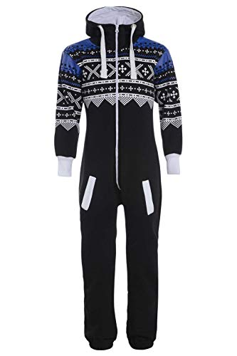 Mymixtrendz. Kids Girls Boys Onesie Extra Soft Camouflage Aztec Print All in One Zip Up Hooded Tracksuit (7-8 Year, Black Aztec) from Mymixtrendz.