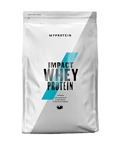 Myprotein Impact Whey Protein Powder. Muscle Building Supplements for Everyday Workout with Essential Amino Acid and Glutamine. Vegetarian, Low Fat and Carb Content - Natural Chocolate, 1kg from Myprotein