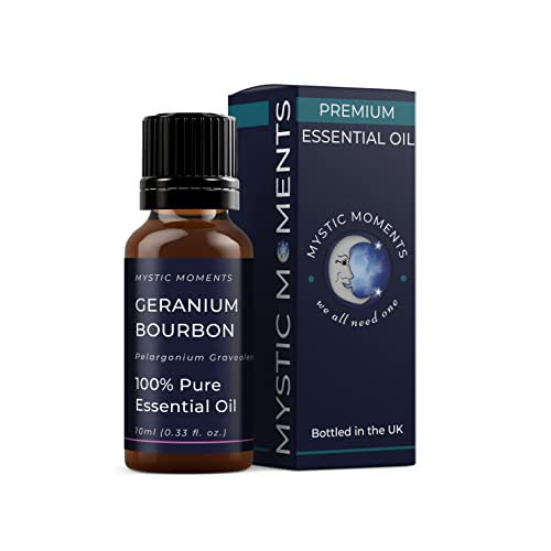 Mystic Moments | Geranium Bourbon Essential Oil - 10ml - 100% Pure from Mystic Moments