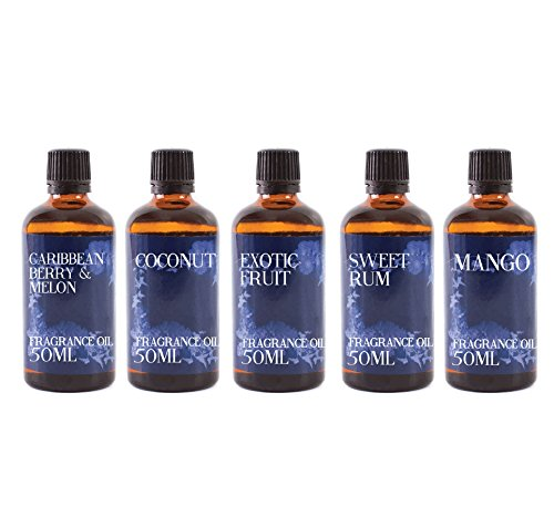 Mystic Moments | Gift Starter Pack of 5 x 50ml - Desert Island - Fragrant Oil from Mystic Moments