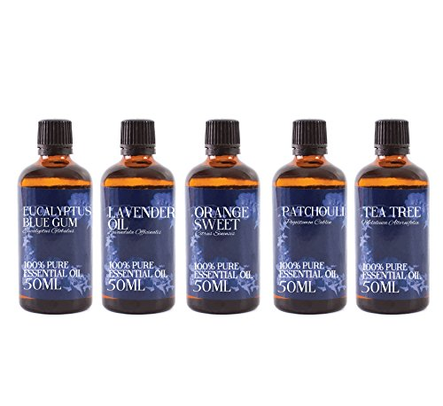 Mystic Moments | Gift Starter Pack of 5 x 50ml - Favourite - Essential Oils from Mystic Moments