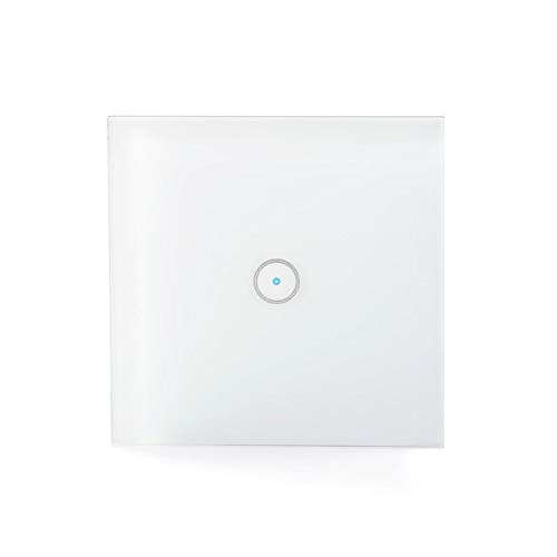 NEDIS Wi-Fi Smart Light Switch, Voice Control via Alexa or Google Home, IFTTT, Plug & Play, No Hub or Subscription Required, SmartLife, Single from NEDIS