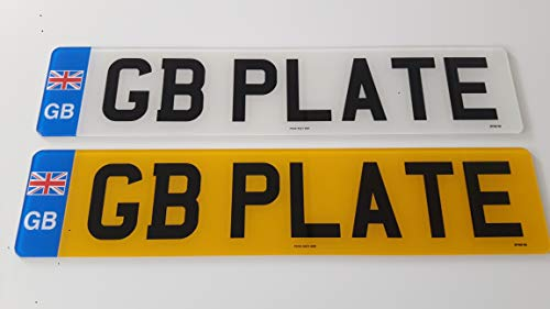 Pair Standard GB Euro Number Plates 100% MOT Compliant - Car / Van from NENPP/PLATE SERVICES