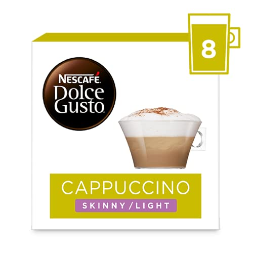 NESCAFÉ Dolce Gusto Cappuccino Skinny/Light Coffee Pods, 16 Capsules (Pack of 3, Total 48 Capsules, 24 Servings) from Nescafé Dolce Gusto