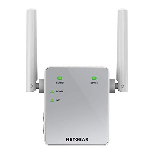 NETGEAR 11AC 750 Mbps (300 Mbps + 450 Mbps) Dual Band Gigabit Wi-Fi Range Extender with External Antennas (Wi-Fi Booster) (EX3700-100UKS) from NETGEAR
