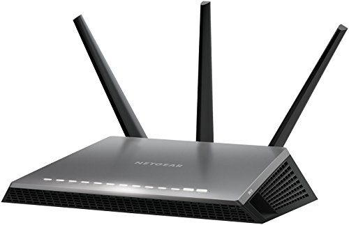 NETGEAR D7000-200UKS Nighthawk AC1900 Dual Band 600 + 1300 Mbps Wireless (Wi-Fi) VDSL/ADSL Modem Router for Phone Line Connections (BT Infinity, YouView, TalkTalk, EE and Plusnet Fibre) from NETGEAR