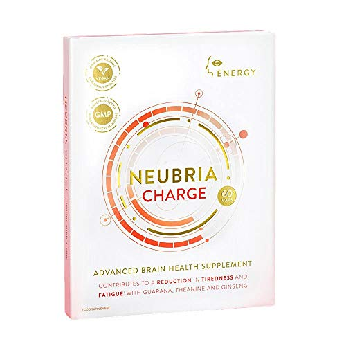 NEUBRIA Charge - Advanced Brain Health Supplement containing Guarana, Maca and Ginseng Provide a Natural, Slow-Release Energy for Improved Focus Over a sustained Period. from NEUBRIA