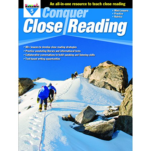 Newmark Learning NL-3274 Grade 5 Conquer Close Reading Learning Aid from Newmark Learning