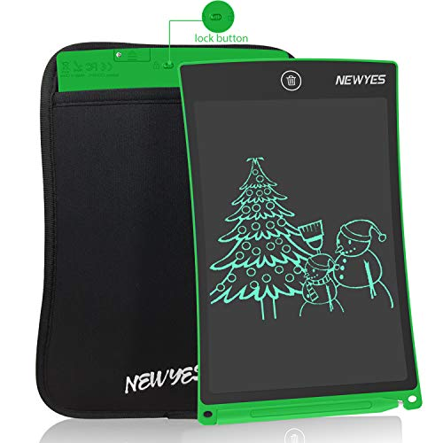 NEWYES NYWT850 LCD Writing Tablet, 8.5 inches Length with a Sleeve (green) from NEWYES