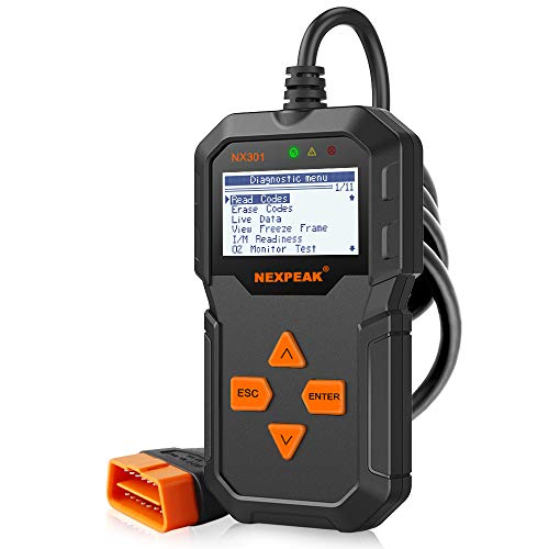 OBD2 Reader NEXPEAK NX301 Universal OBDII Car Diagnostic Scanner Tool for Car Engine OBD2/EOBD Diagnostic Scanner Automotive Engine Fault Code Reader CAN Scan Tool from NEXPEAK