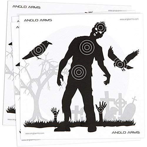 New Pack of 50 Zombie Paper Shooting Practice Air Gun Targets 14 x 14cm from NGT