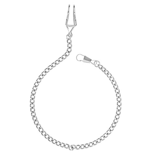 NICERIO Metal Classic Silver Plated Pocket Watch Chain key Chain,35CM(Length) from NICERIO