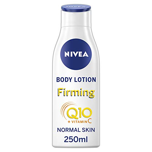 NIVEA Light Firming Body Lotion Q10 + Vitamin C Pack of 6 (6 x 250 ml), Nourishing Firming Cream with Q10 & Vitamin C, NIVEA Soft Moisturising Cream for Firm Skin from NIVEA