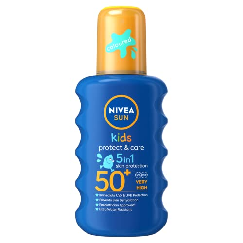 NIVEA SUN Kids Suncream Spray SPF 50+, Coloured, 200 ml from NIVEA