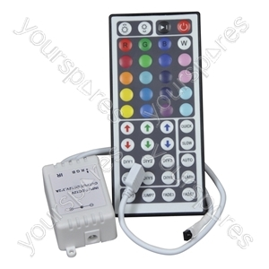 RGB Flexible Tape Controller and 44 Key Hand-held Infra-red Controller from NJD