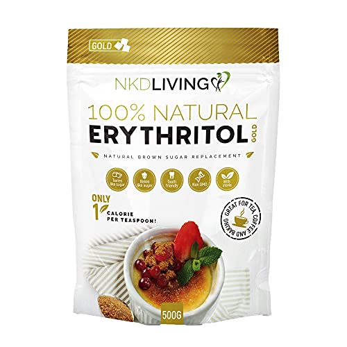 Erythritol Gold 500g by NKD Living - Natural Brown Sugar Alternative with Stevia from NKD Living