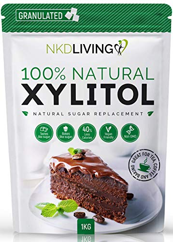 XYLITOL 1 Kg Natural Sugar Alternative | Non-GMO Certified from NKD Living
