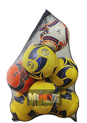10 Ball Mesh Carry Sack Football/Netball Carry Bag Netbag with drawstring closure from NNN
