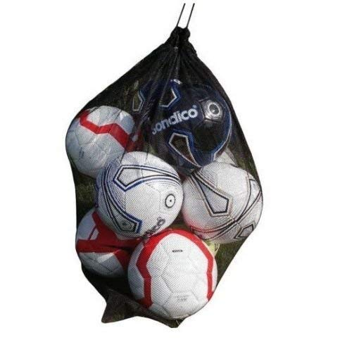 20 Ball Red Mesh Carry Sack Football/Netball Carry Bag Netbag with drawstring closure from NNN