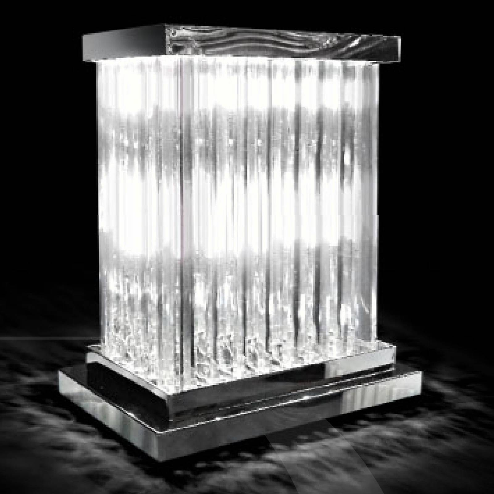 Radiant crystal table lamp Dorico from Novaresi
